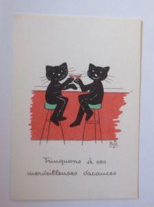 Karikatur, Biz, Katzen, Bar, Cocktail,      1960 ♥ (66191)