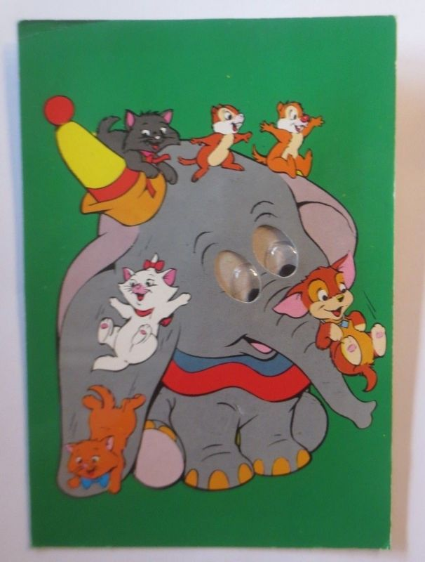 Walt Disney,  Dumbo, Aristocats, A-Hörnchen-B-Hörnchen, Kulleraugen,1972♥(66628)