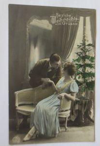 Weihnachten, Männer, Frauen, Weihnachtsbaum,  1907  ♥ (69412)