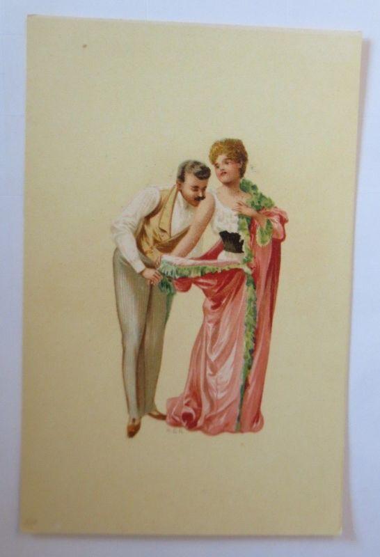 Künstlerkarte, Frauen, Männer, Mode,  1900,  Hegedüs Geiger  ♥ (57542)