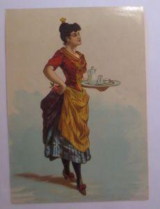 Oblaten, Frauen, Mode, Tee,  1910,   22 cm x 15,5 cm ♥ (7B)