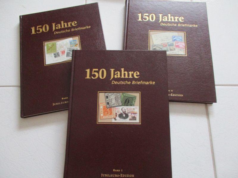 3 Bände 150 Jahre Deutsche Briefmarken Jubiläums Edition Deutsche Post kpl