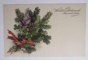 Neujahr, Tannenzweig, Kleeblatt,    1930, Meissner & Buch  ♥  (69465)