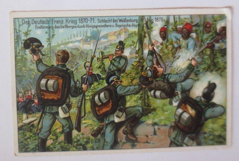 Kaufmannsbilder, Dr. Thompson´s, Der Deutsch Franz. Krieg, Nr.21, 1900 ♥ (69656)