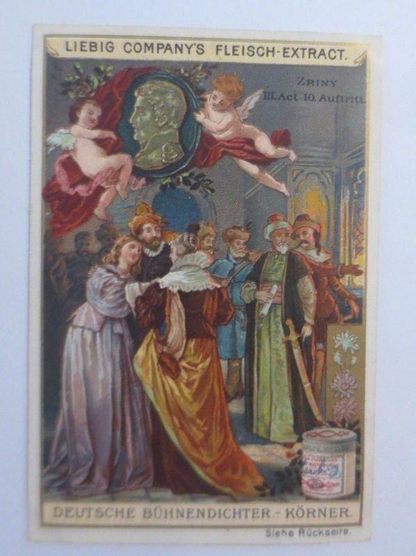 Liebig, Serie 357, Deutsche Bühnendichter, Körner, Zriny III. Act.♥  (68055)