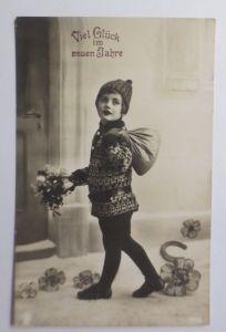 Neujahr, Kinder, Mode, Blumen, Kleeblatt,  1934  ♥ (174)
