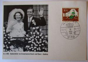 Niederlande, Hochzeit Beatrix und Claus von Amberg 1966 (20133)