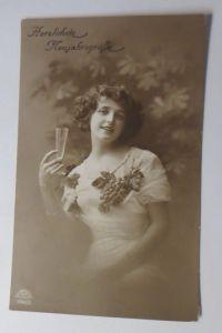 Neujahr, Frauen, Mode,  Sekt,   1919  ♥ (47059)