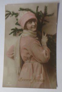 Neujahr, Frauen, Mode, Tannenzweig,   1913  ♥ (4164)