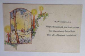 Weihnachten, Kerzen, Winterlandschaft, Haus,  1910  ♥  (21023)