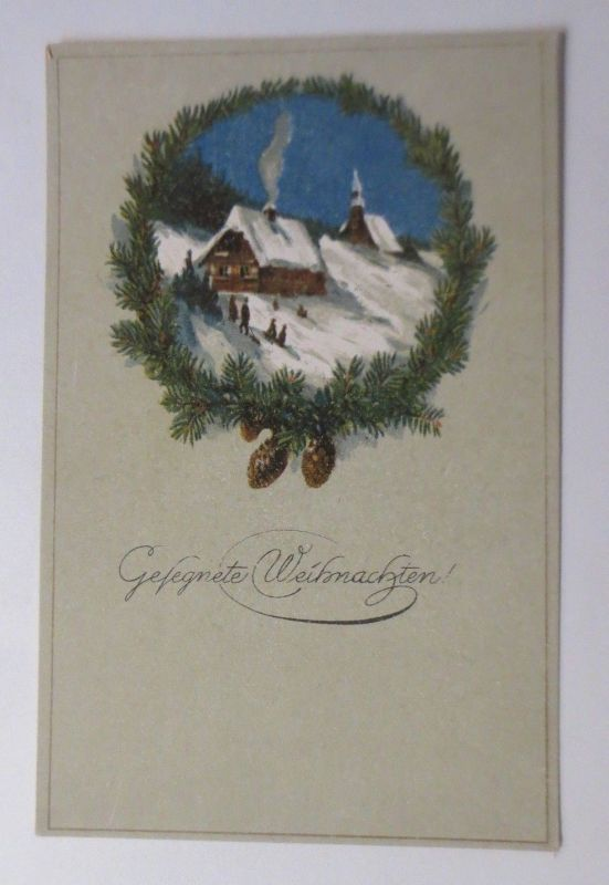 Weihnachten, Winter, Dorf,  1910 ♥ (26016)