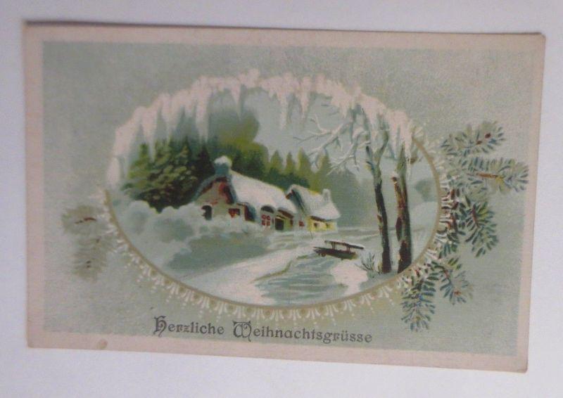 Weihnachten, Winterlandschaft, Haus,  1921  ♥ (60595)