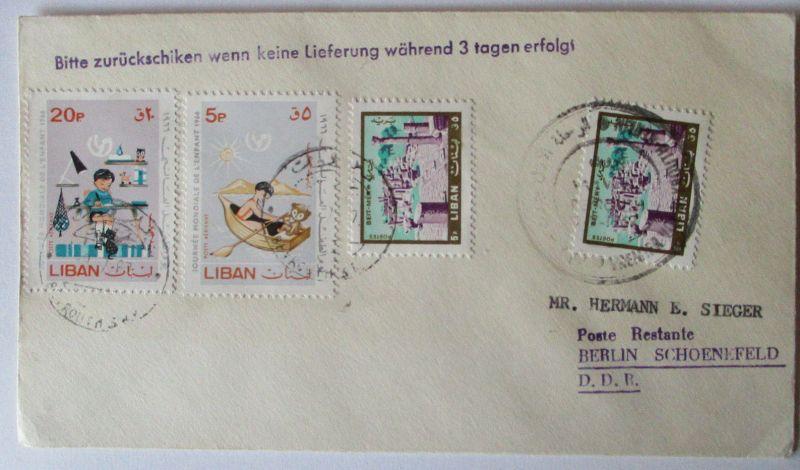 Libanon, Brief 1966 in die DDR (56879)