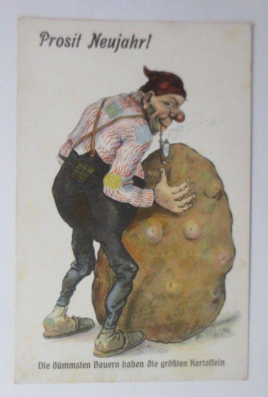 Neujahr,  Die dümmsten Bauern haben die größten Kartoffeln,   1930 ♥ (69143)