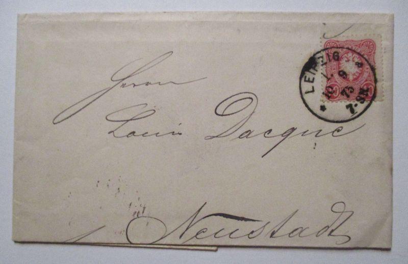 D.Reich, Brief 1875 an Louis Dacque in Neustadt, Ankunft HKS (53458)
