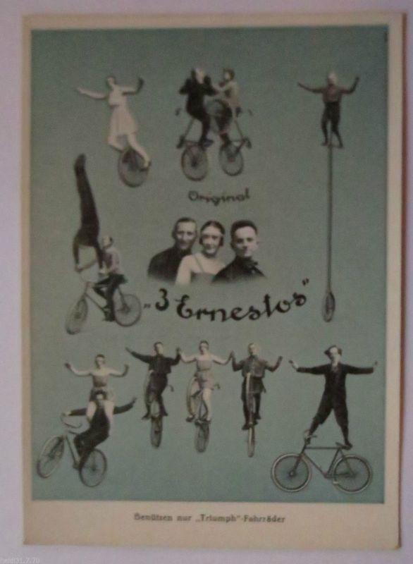 Fahrrad, Artisten, Die drei Ernestos benützen nur Triumph Fahrräder (10576)