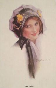 Glaube, Hoffnung, Liebe, Anker, Blumen, Jugendstil,  1904, Prägekarte ♥ (15346)