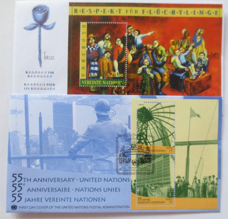 UNO Wien, 2 Block FDC aus dem Jahr 2000 (24904)