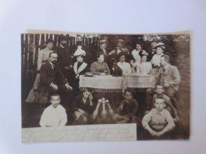 Polen Pommern Bromberg Bydgoszcz Kegelclub Kegeln 1902 Fotokarte♥ (66759)