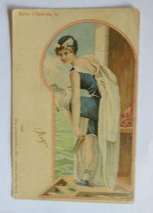 Neujahr, Kinder, Sekt, Sektflasche, Korken, 1898 ♥ (32706)