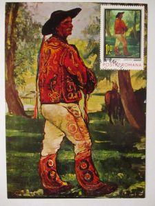 Rumänien Maximumkarte Gemälde Kunst Artur Verona 1973 (41065)