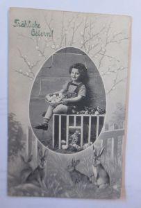 Ostern, Kinder, Mode, Hase, Weidenkätzchen,    1918  ♥  (22384)