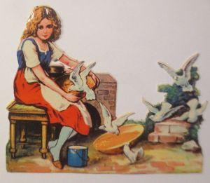 Oblaten, Märchen, Aschenputtel,    1900,   11 cm x 9 cm ♥ (66238)