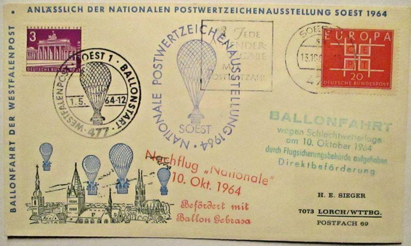 Bundesrepublik Ballonpost Soest 1964 (49733)