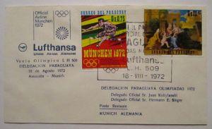 Lufthansa Olympia Erstflug Paraguay 1972 (37094)