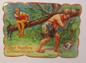 Oblaten, Märchen, Das tapfere Schneiderlein,  8,5  cm x 6 cm ♥ (13615)