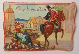 Oblaten, Märchen, König Drosselbart,   8 cm x 6 cm ♥ (65718)