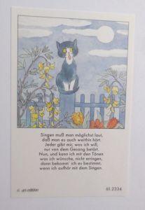 Sammelbildchen, Katzen, Gesang, 1930, ars edition ♥ (37169)