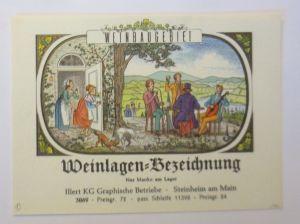 Weinetikett, Weinlagen-Bezeichnung, Steinheim am Main, 1960 ♥ (67207)