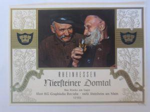 Weinetikett, Rheinhessen,  Niersteiner Domtal, Stenheim am Main 1960 er ♥(64376)