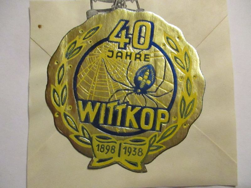 Werbung Reklamemarke Vignette 40 Jahre Wittkop (54036)