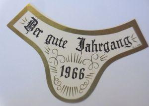 Weinetikett, Der gute Jahrgang,  1966 er ♥ (69330)
