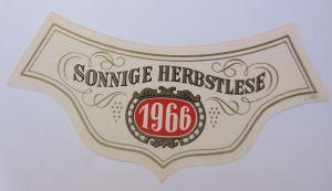 Weinetikett, Sonnige Herbstlese 1966 ♥ (66544)