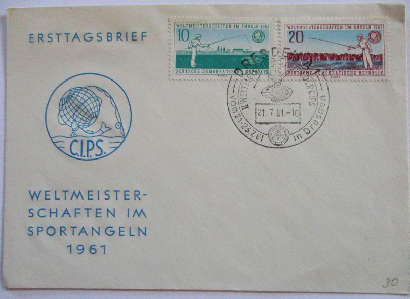 Fische Angeln Sortangeln, Weltmeisterschaft 1961 FDC (44531)