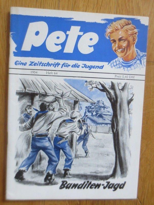 Zeitschrift Pete Banditen-Jagd    1954  Heft 64   ♥   (24481)