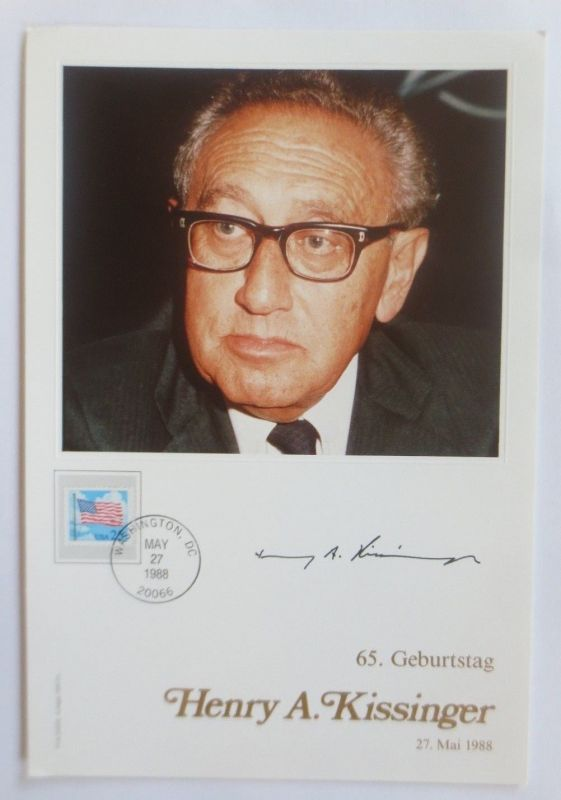 Philswiss Autogramm,  Henry A. Kissinger  1988 ♥