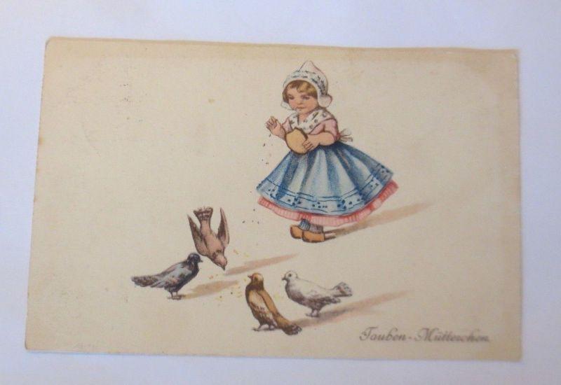 Kinder, Tauben-Mütterchen, Tauben,   1917  ♥ (16456)