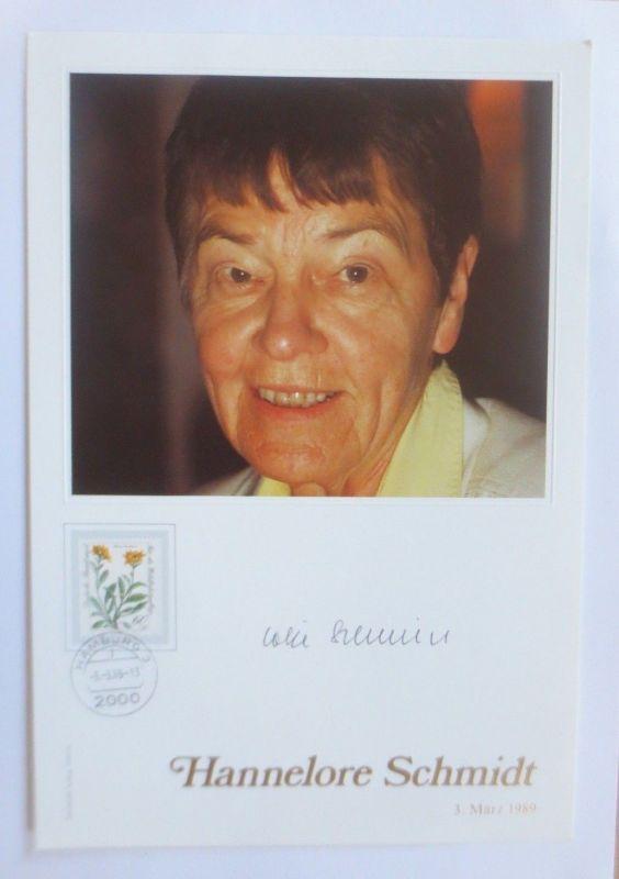 Philswiss Autogramm,  Hannelore Schmidt   1989 ♥