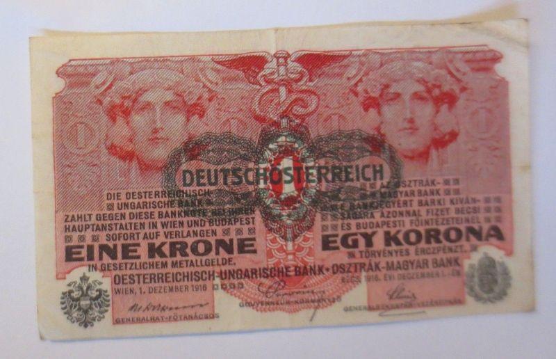 Geldschein, Eine Krone Deutschösterreich 1916 ♥ (32598) 0