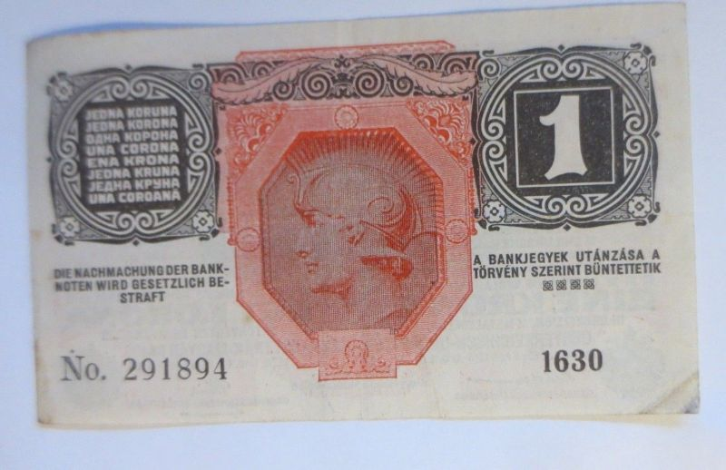 Geldschein, Eine Krone Deutschösterreich 1916 ♥ (32598) 1