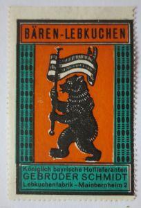 Reklame Werbung, Lebkuchen Reklamemarke Gebr. Schmidt (23380)