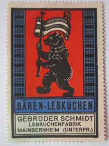 Reklame Werbung, Lebkuchen Reklamemarke Gebr. Schmidt (23372)