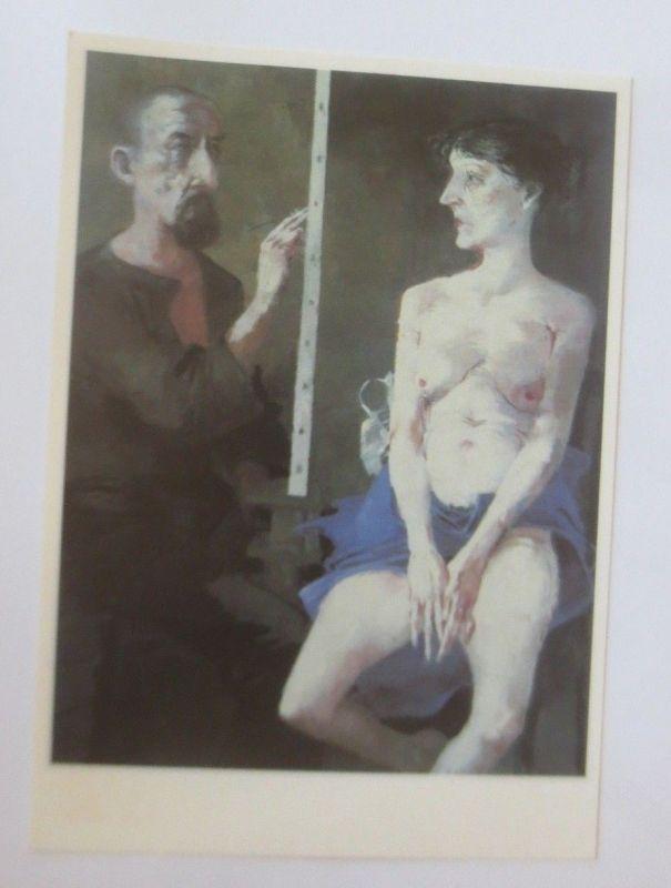 DDR Privat Ganzsache X Kunstausstellung, Arno Rink, Maler und Modell ♥ (45315)