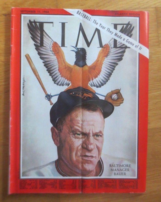 Time Magazine, Baltimore Manager Bauer,  11. September   1964  ♥