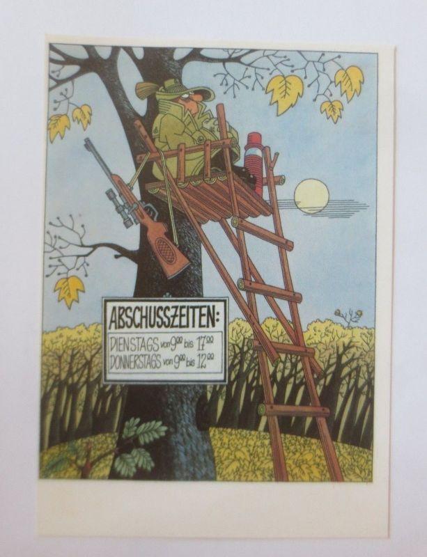 DDR Privat Ganzsache X Kunstausstellung, Louis Rauwolf, Abschußzeiten ♥ (28091)