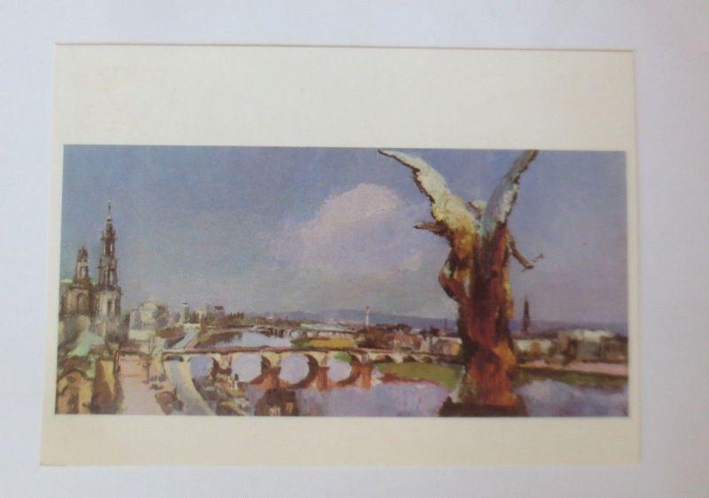 DDR Privat Ganzsache X Kunstausstellung, Siegfried Klotz ♥ (50903)